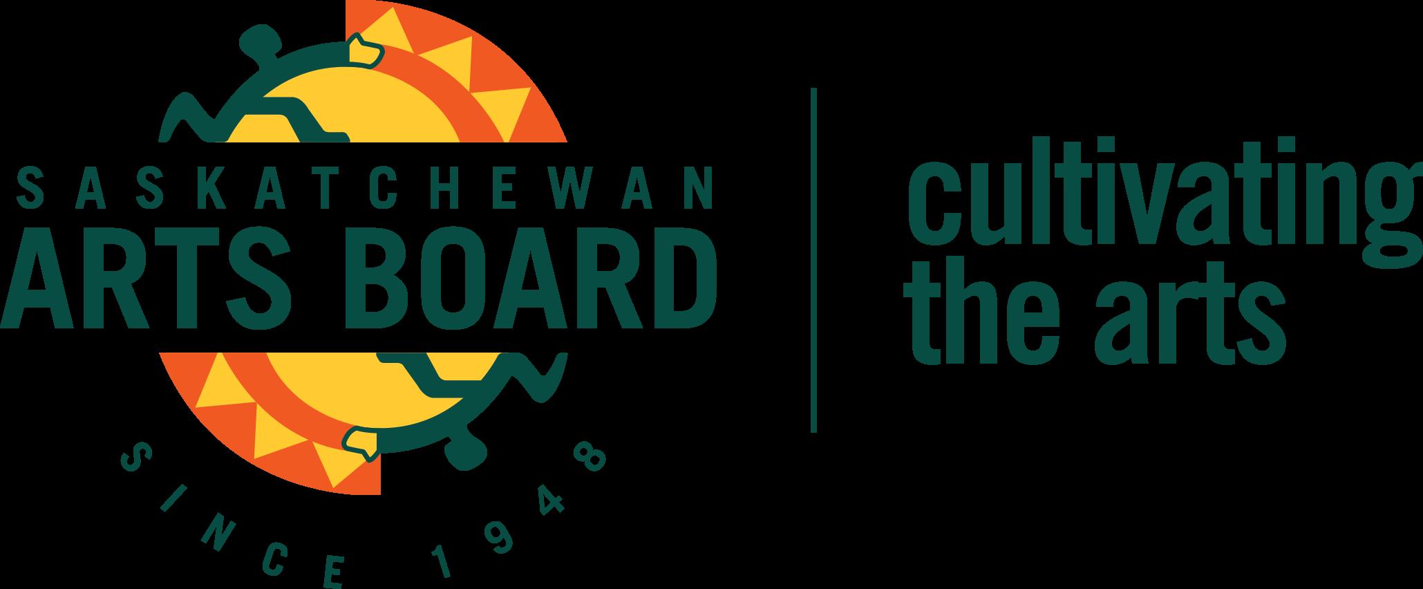 Sask Arts Board logo colour PNG 2017